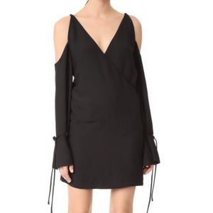 NWT IRO cold shoulder wrap effect mini dress